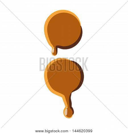 Colon from caramel icon isolated on white background. Punctuation symbol