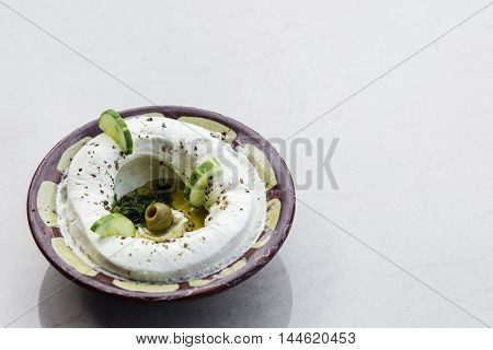 labneh fresh lebanese middle eastern cream cheese dip snack food dip