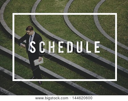 Time Appointment Plan Business Meeting Concept