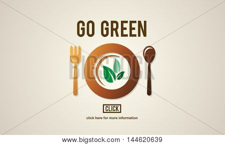 Go Green Health Food Diet Vegan Concept