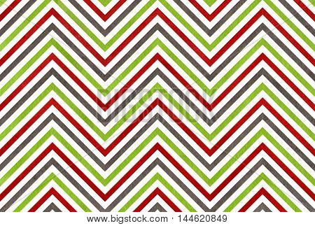 Watercolor Green, Dark Red And Grey Stripes Background, Chevron.