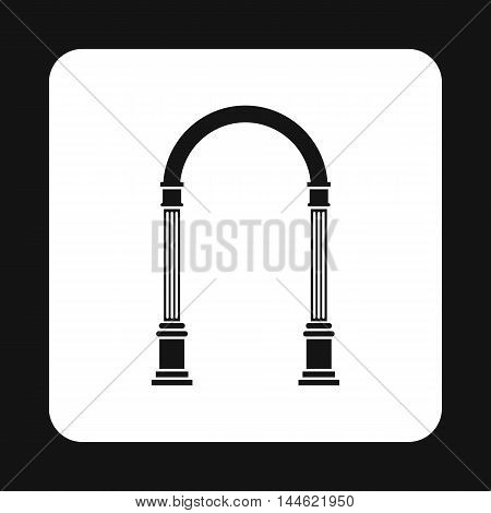 Arch with classic design icon in simple style isolated on white background. Construction symbol