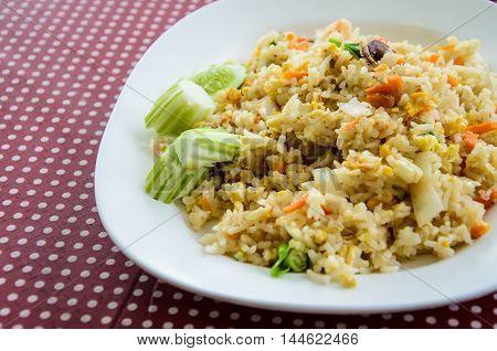 Thai fried rice, Thai cuisine on table
