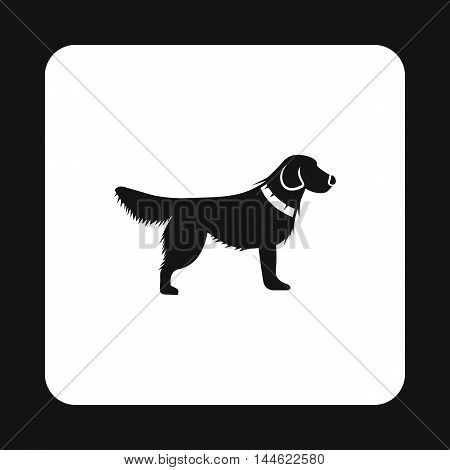 Dog icon in simple style isolated on white background. Animals symbol