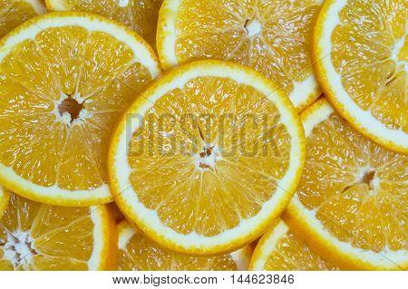 Sliced Orange Vitamin Background