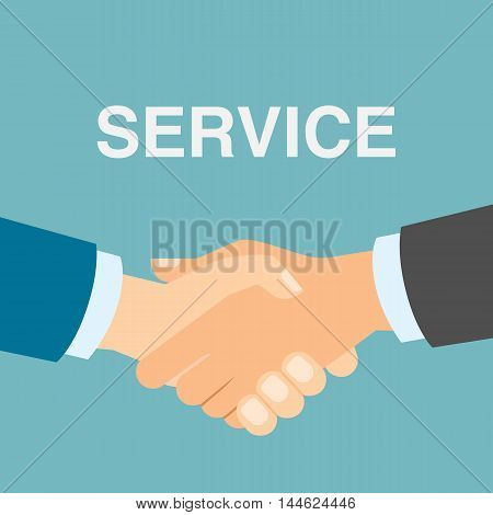 Good service handshake. Approving good service and making contract. Business deal.