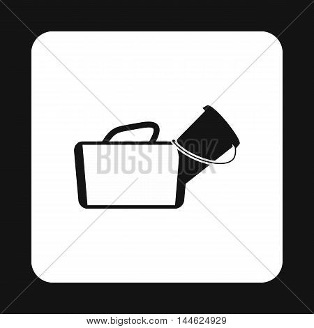 Medical bag icon in simple style isolated on white background. Medicine symbol