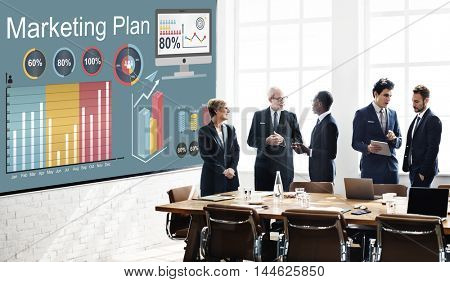 Marketing Plan Statistics Strategy Concept