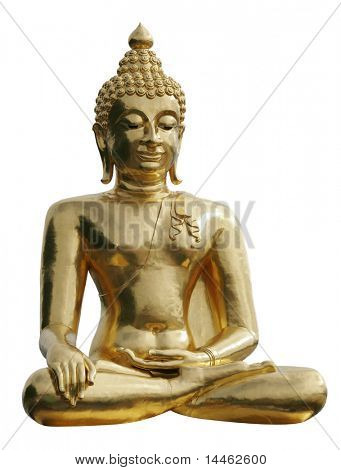 Statue of a gold Buddha