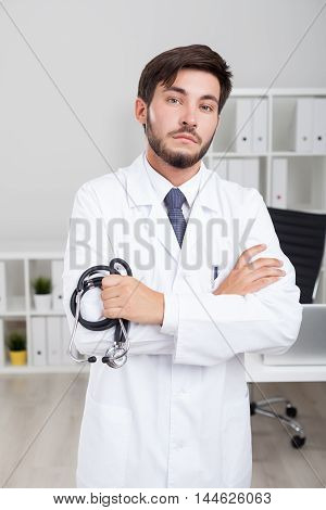 Serious Bearded Doctor