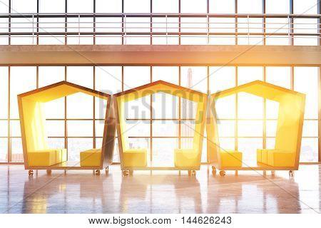 Pentagonal Waiting Rooms