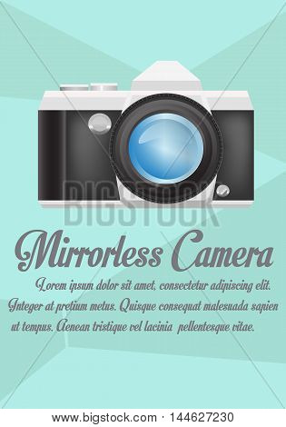 Vector - Mirrorless camera with realistic lens