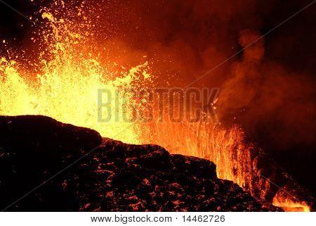 Erupção de vulcão