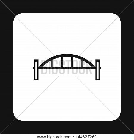 Bridge with round pillars icon in simple style isolated on white background. Construction symbol