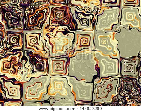 Fractal artwork for creative design. Abstract background in digital art style