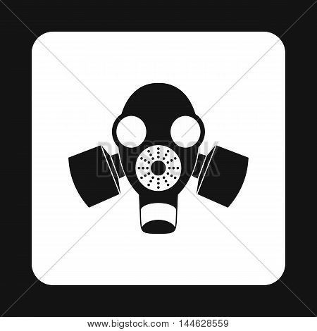 Gas mask icon in simple style isolated on white background. Protection symbol