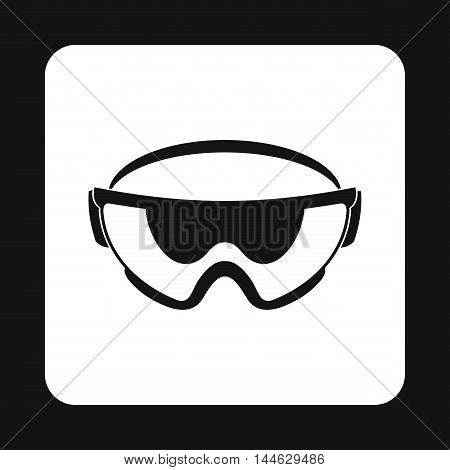 Military goggles icon in simple style isolated on white background. Equipment symbol