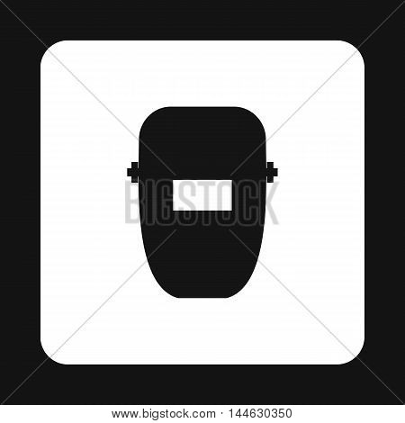 Mask of welder icon in simple style isolated on white background. Protection symbol