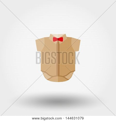 Baby shirt. Icon for web and mobile application. Vector illustration on a white background. Flat design style.