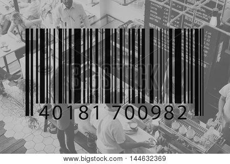 Bar Code Coding Computer Language Data Technology Label Concept