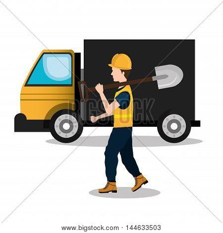builder constructor worker icon vector illustration design