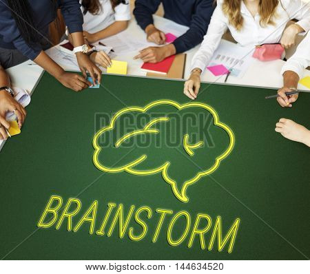 Brainstorm Ideas Sharing Solution Graphic Concept