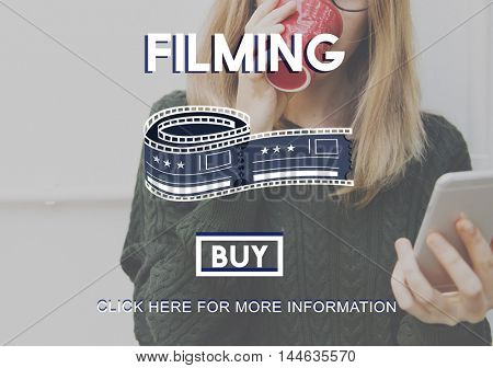 Filming Cinema Media Movie Production Studio Concept