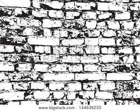 Vector illustration of texture of old brickwork