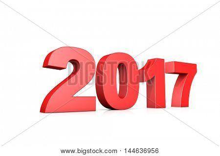 3d illustration 2017 new year