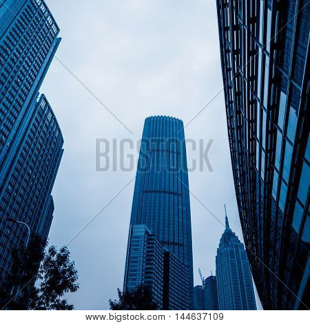 financial district of shanghai,china.