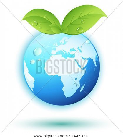 Earth with leaves
