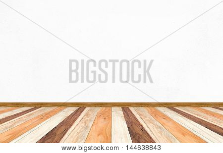 Empty Perspective Room And Wooden Plank Floor,template Mock Up For Display Of Your Product.