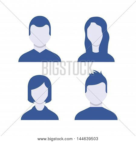 user figure social community vector illustration design