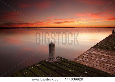 Sunrise Skies At Berkeley Vale Central Coast Australia