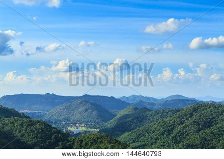 Mountain at Khao Yai national park (a unesco world heritage site) Thailand.