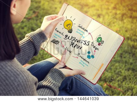 Business Plan Design Solution Research Brainstorming Concept