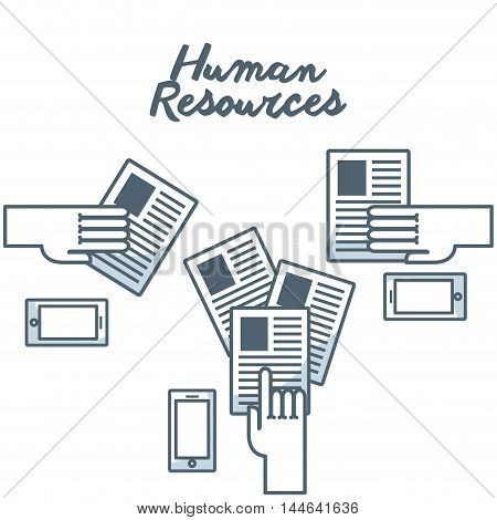 human resources concept isolated icon vector illustration design