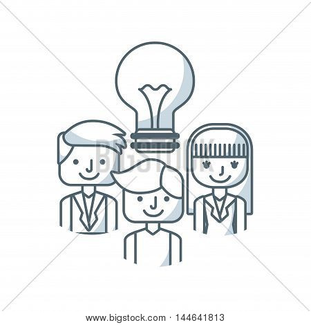 team work concept isolated icon vector illustration design