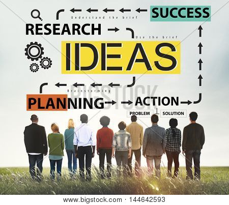 Ideas Research Planning Success Conceptualize Concept