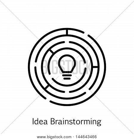 Vector Illustration Of Project Management Icon On Idea Creativity And Brainstorming In Trendy Flat Style. Project Management Isolated Icon For Web Mobile And Infographics Design Eps10.