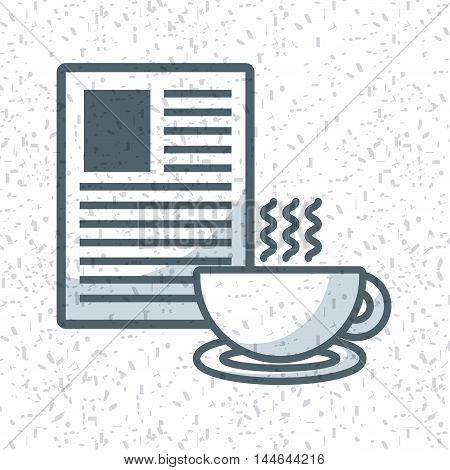 document and coffee cup isolated icon vector illustration design