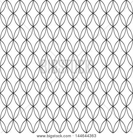 Seamless vector black and white ornament. Pattern for wallpapers and backgrounds