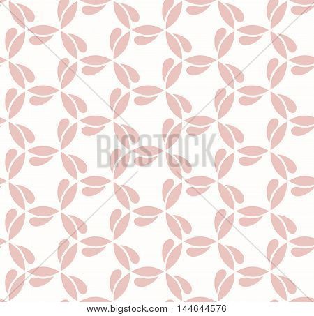 Seamless vector pink ornament. Modern geometric pattern with repeating elements