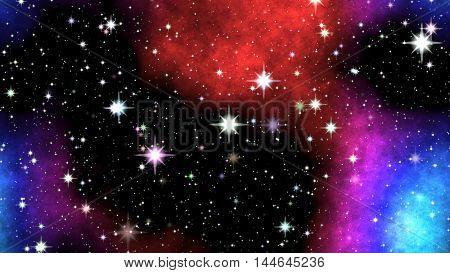 Night Nebula On Sky