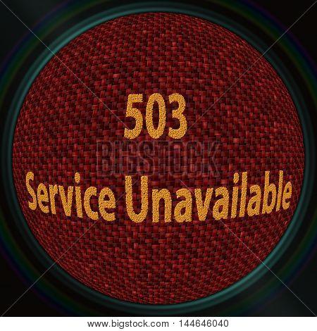 Error 503 Service Unavailable - coffee beans 3D pattern