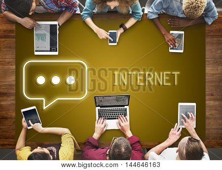 Internet Data Connection Browse Search Concept