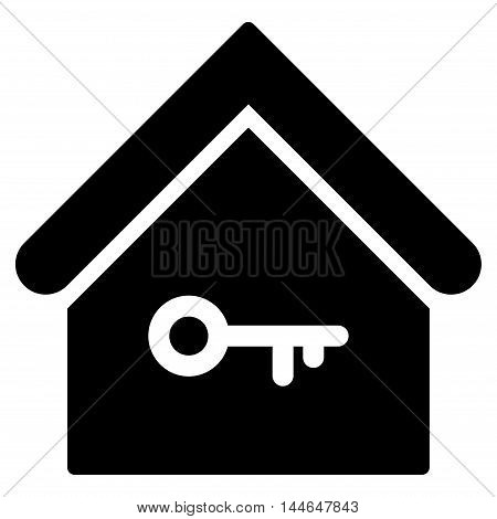 Home Key icon. Vector style is flat iconic symbol, black color, white background.