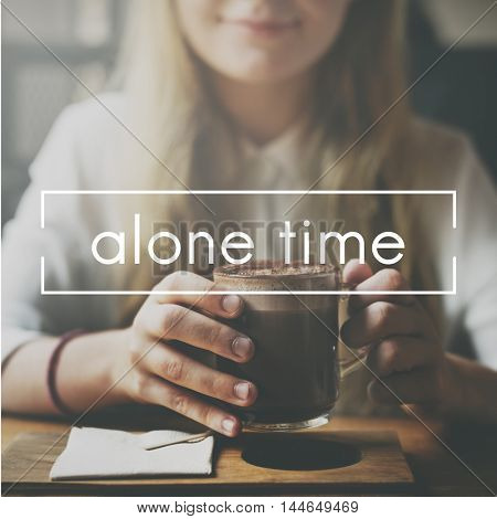 Alone Time Tranquil Solitude Sitting Space One Concept