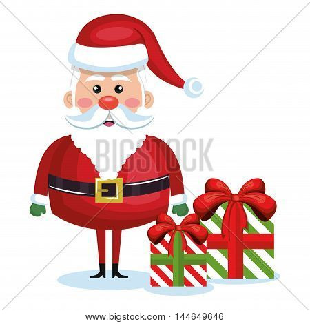 santa claus character icon vector illustration design