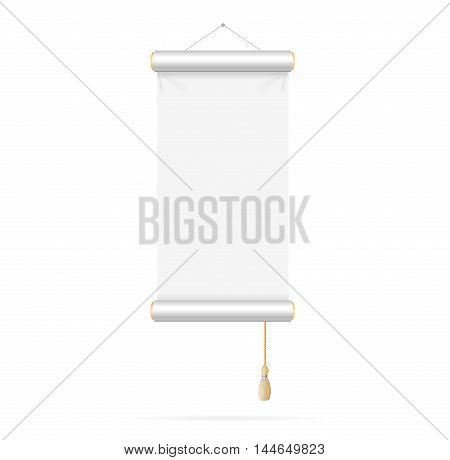 Template White Paper Scroll on a Light Background. Vector illustration